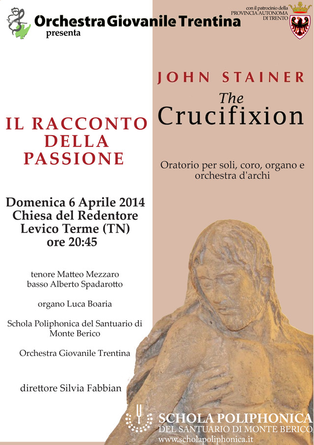 Locandina del concerto the Crucifixion di John Stainer